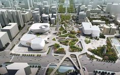 Located in Guangzhou, China. Three Museums One Square is a project was designed by UNStudio to offers an opportunity to express the city of Guangzhou's culture