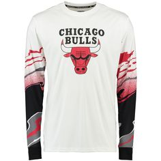 ba7cda25a NBA Chicago Bulls Zipway Hot Lava Long Sleeve T-Shirt - Red White Nba