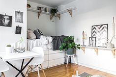 Studio apartment with bed alcove