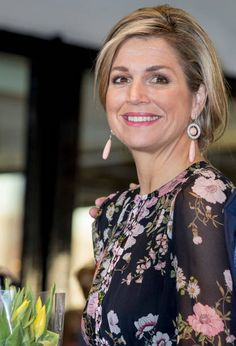 Queen Maxima arrives at Theater Tilburg for the Kingsday concert on April 4, 2017 in Tilburg