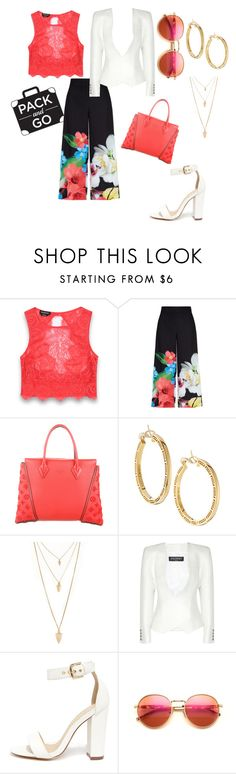 """""""MexicoCity Brunch!"""" by jamesar ❤ liked on Polyvore featuring Bebe, Ted Baker, Louis Vuitton, Forever 21, Balmain, Liliana and Wildfox"""