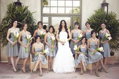 This is why I try to steer brides away from an all white bouquet....can you even tell that bride has flowers?