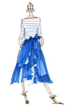Somsack Sikhounmuong, women's designer, J. Crew Sketch