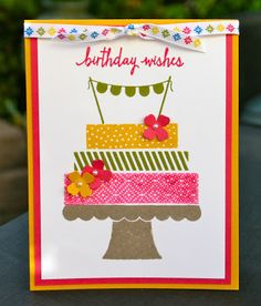 Krystal's Cards: Stampin' Up! Build a Birthday Greeting Card Fundraiser #stampinup #krystals_cards #birthdaycard #buildabirthday #handstamped #papercrafts #cardmaking #sendacard #stampsomething
