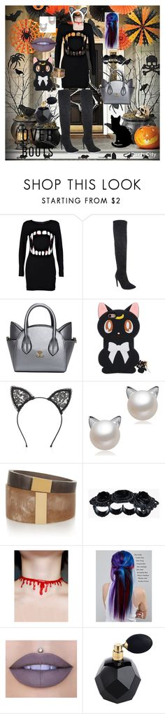 """Cat Vampire Chic! 🐱😺"" by caitylovesfashion99 ❤ liked on Polyvore featuring Boohoo, Fleur du Mal, Isabel Marant, Dsquared2, Manic Panic NYC and Jeffree Star"