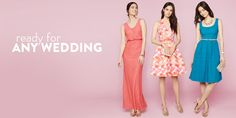 Wedding-guest dresses for a variety of wedding types.