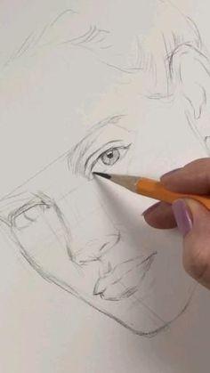 3d Art Drawing, Art Drawings Sketches Simple, Pencil Art Drawings, Realistic Drawings, Painting & Drawing, Drawing Ideas, Art Sketchbook, Art Tutorials, Beauty Art