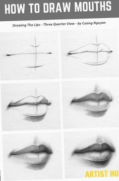 How to draw mouths like a pro step by step? How to draw mouths like a pro step by step? for beginners realistic tutorial Art Drawings Sketches Simple, Pencil Art Drawings, Realistic Drawings, Mouth Drawing, Nose Drawing, Drawing Faces, Sketches Tutorial, Anime Sketch, Drawing Techniques