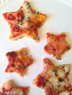 Cut pizza into fun star shapes, great for any day of the week.