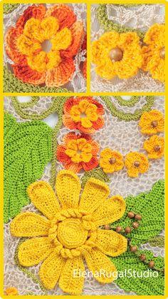 Irish Crochet, Crochet Motif, Crochet Lace, Irish Lace, Simple Designs, Needlework, Crochet Earrings, Youtube, Simple Drawings