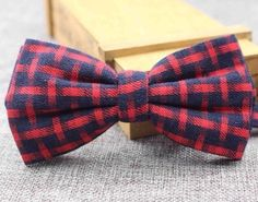 New vintage Cotton, double layer, Red Plaid bow tie. Excellent Quality & Reviews | eBay