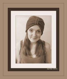 MADE TO ORDER Hand knit turban headband earwarmer plain or personalised with secret code