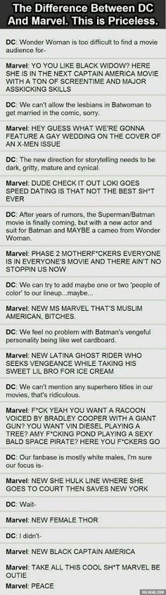 It calls her Amy Pond instead of Karen Gillan bless whoever made this post. << I love them both, DC and Marvel