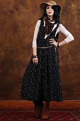80's Strutter Jumpsuit M/L - Vintage 80's Micro Calico Palazzo Capri Boho Hippie Airy Dress Wide Leg Jumpsuit M/L