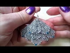 DIY Beaded Fan Earrings Tutorial Lady Green Eyes Jewelry - YouTube