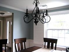 crown molding (and I love this wall color!)