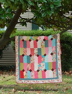 instructions for easy quilt using layer cake