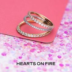 Browse the diamond and gold jewelry collection of Hearts on Fire. We have stylish designs of engagement rings, wedding necklace, earrings and pendants at Roman Jewelers store in Bridgewater, NJ. Diamond Rings, Diamond Cuts, Gold Rings, Three Rings, Fire Heart, Glitz And Glam, Bangles, Bracelets, Beautiful Rings