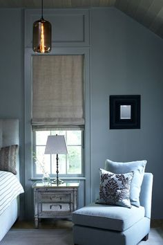 Give your room a modern update by painting the trim the same color as the walls.