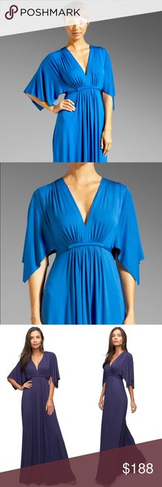 NEW Rachel Pally Blue Long Caftan This kimono sleeve maxi dress is Rachel Pally's all-time best seller. Featuring a stretchy, heavyweight modal jersey, it softly embraces your curves and offers a forgiving yet feminine drape.  FIT GUIDE:  Fits true to size and cut to accommodate a range of figures. Hem intentionally left long to allow you to tailor to your height and shoe preference.  DETAILS:  Modal jersey - 92% modal, 8% spandex. Dry clean. Made in the USA. Rachel Pally Dresses Maxi