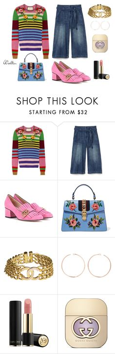 """""""Fun with Gucci"""" by walkerwalker on Polyvore featuring Gucci, Gap, Chanel, Anita Ko and Lancôme"""