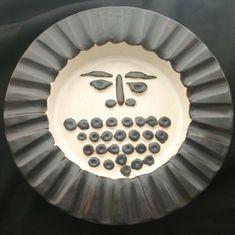 Vintage BENNINGTON Pottery Bowl Black Sun Face RA5 | eBay Bennington Pottery, Pottery Bowls, Vintage Designs, Sun, Tableware, Face, Desserts, Ebay, Ceramic Bowls
