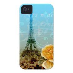 Vintage Eiffel Tower Case-Mate iPhone 4 Case