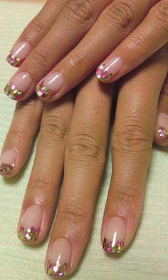 shiho's nails **pink x limegreen** | Flickr - Photo Sharing!