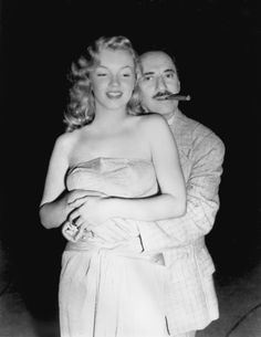 Marilyn Monroe and Groucho Marx