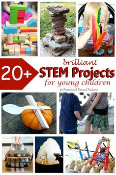 LOADS of fun ideas for STEM activities for preschoolers (and older kids too)! Perfect for preschool, kindergarten, and elementary school, and easily adapted for middle & high school! Unique STEM projects and challenges!