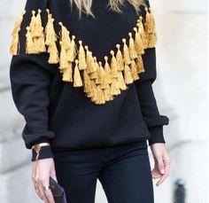 Способ украсить свитер