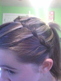 Waterfall braid into a ponytail-Addyson