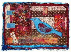 peaceofpi studio: Fiber Art & Stitched Collage
