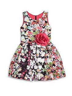 Zoe Girl's Floral Print Dress