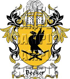 Becker Family Crest apparel, Becker Coat of Arms gifts