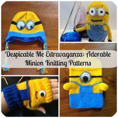 Despicable Me Extravaganza: Adorable Minion Patterns - We've scoured our entire website and have created Despicable Me Extravaganza: Adorable Minion Patterns to help you share your love of minions with the world (and maybe they'll even help you take it over*). These free knitting patterns make great gift ideas for kids who are crazy about the Despicable Me movies.