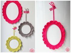 Molduras de Crochê ~ Senhora Inspiração! Blog