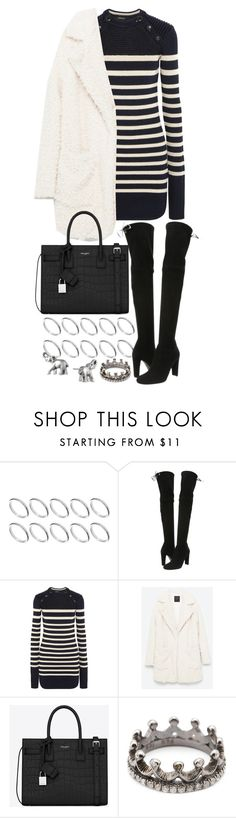 """""""Untitled #20376"""" by florencia95 ❤ liked on Polyvore featuring ASOS, Stuart Weitzman, Isabel Marant, Yves Saint Laurent, Loree Rodkin and Lonna & Lilly"""