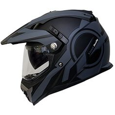 Voss 600 Dually Dual Sport Helmet with Integrated Sun Len...