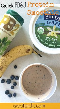 quick pb&j protein smoothie recipe has everything you need for your ...