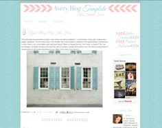 Premade Blog Template - Modern Design for Blogger #premadetemplate