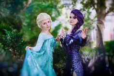 Elsa and Dark Elsa Cosplay