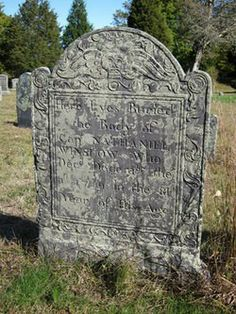 Headstone for Capt. Nathaniel Winslow