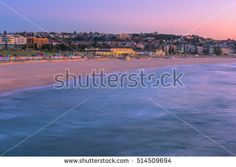 Bondi Beach at Sunrise in Bondi Beach Sydney Australia.NOV 13,2016 Bondi Beach is a popular beach and the name of the surrounding suburb in Sydney, New South Wales, Australia