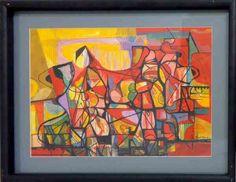 Roberto Burle Marx - Geométrico - Guache - 32 x 46 cm