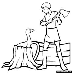 golden goose coloring page free golden goose online coloring