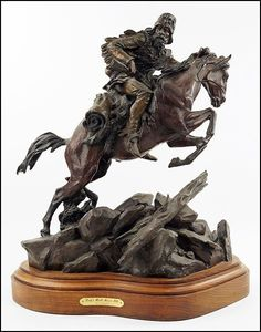 "Bronze Sculpture : Outstanding Bronze Sculpture by Ken Payne (American, ""Scalps Worth More 'N Pelts"" Wire Tree Sculpture, Bronze Sculpture, Sculpture Art, Carving Designs, Southwest Art, Animal Sculptures, Horse Art, Western Art, Stone Art"