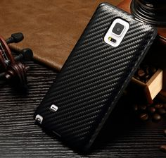 Galaxy note4 leather cover- Black,made from gadget2us.com