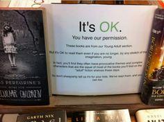 It's OK to read YA books.