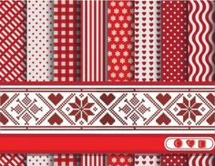 Christmas Scrapbook Vector Patterns Pack - http://www.welovesolo.com/christmas-scrapbook-vector-patterns-pack/